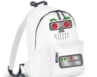 Robot Head kids backpack