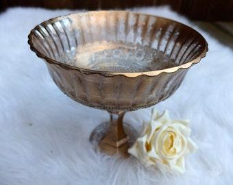 Metallic Bronze Gold Distressed Vase Wedding Centerpiece Centrepiece Glass Floral Vase Gold Wedding Vase Gold Mercury Vase Antique Vase