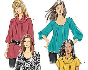 Butterick 5388 - Misses and Ladies Blouse Pattern - Very Easy Sewing Pattern - Sizes 8, 10, 12, and 14