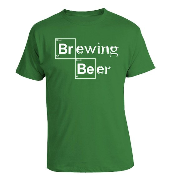 Custom Home Brew Shirts - Get dressed for brew day and show your beer pride - Heisenberg Brewing Beer