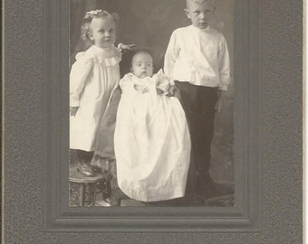 Antique Cabinet Photograph of Victorian Children