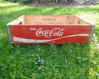 Vintage Wooden Coca Cola Soda Crate