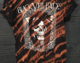 Black Veil Brides / Distressed Shirt / Bleached Tee