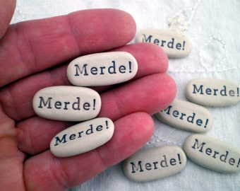 3+ Merde!, Ballerina Gift, Recital Gift, Dancer Gift, Good Luck Gift, Party Favor