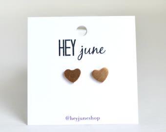 heart stud earrings, heart earrings, gold heart earrings, silver heart earrings, minimalist earrings, rose gold heart earrings, heart studs