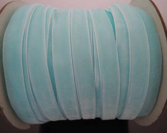 Velvet Ribbon - Pastel Light Blue Velvet Ribbon 10mm ( 3/8 inches )