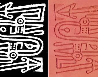 Wanderer-Vagabunden Design-Stempel für Ton - Vagabunden Richtung Stempel - Vagabunden Design-Stempel-Werkzeug für PMC - Scrapbooking-Design-Stempel-Werkzeug