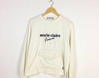 RARE!! Marie Claire Sweatshirt MC Forum Paris Sweater