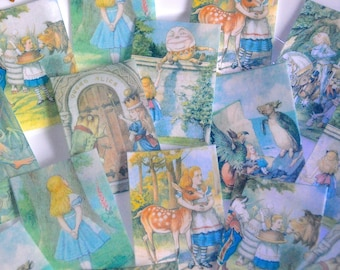 Edible Alice in Wonderland Through the Looking-Glass Wafer Rice Paper Wedding Cake Decoration Birthday Cookie Toppers UK Tea Party Decor RTD