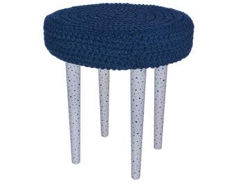 Handmade pouf / ottoman / stool