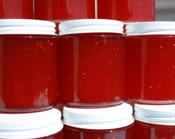 Wedding jam favors, party favors, Strawberry pineapple jam favors by Hopes Pantry, Spread the love with 150 of our 4 oz jars
