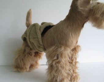 POOCHIE PANTZ tan female dog diaper, custom made, all sizes