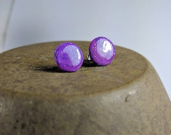 Ultraviolet Studs, Pantone Color for 2018, Polymer Clay Studs, Shades of Purple, Small Ultraviolet Studs, Purple Earrings