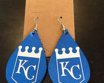 Kansas City Royals earrings