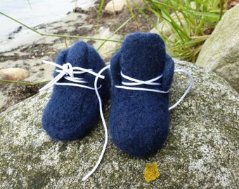 Baby Shoes Dark Blue