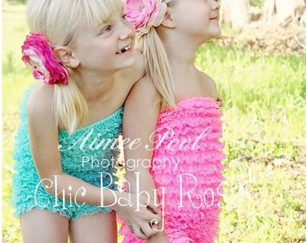 50% OFF Select Original Big Girl Lace Petti Romper by Chic Baby Rose in 21 Colors