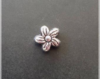 Flowers in silver metal 7 mm