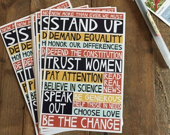 """set of ten or more stand up 4x6"""" postcards"""