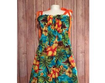 Children's Luau Dress, Girl's Hawaiian Dress, Baby Hawaiian Outfit, Girl's Tropical Dress, Girl's Tiki Dress, Hawaiian Luau Dress