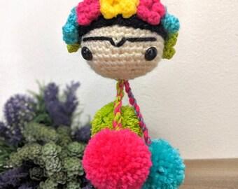 Frida Kahlo doll crochet art