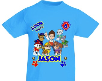 Paw Patrol birthday shirt/Paw Patrol custom birthday shirt/Personalized Paw patrol birthday shirt/Paw Patrol party shirt