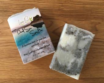 Dead Sea Spa Bar, Dead sea mud soap, Clay soap, Mud soap, Spa soap, Organic, Vegan, Lemon soap, Sensitive skin, palm free, bar soap, soap