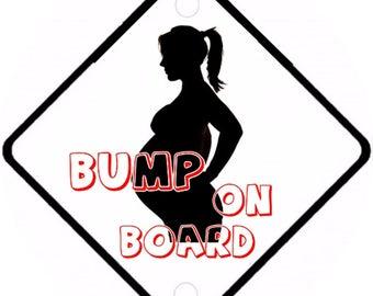 Car On Board sign - Bump on Board Aluminium sign