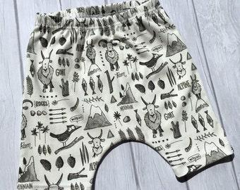 baby shorts, organic baby shorts, toddler shorts, organic baby shorts in mountain goat, organic toddler shorts, organic shorts, alpine, gray