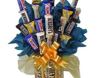 Candy Bouquet   Mini Candy Assortment   Hershey Gold   Graduation   Appreciation   Congratulations   Get Well Soon   Happy Birthday