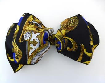 Vintage Oversized Hair Clip, Large Bow Hair Clip, Statement Print, 90s