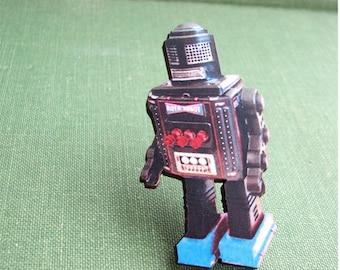 japanese toy robot pin - roto robot