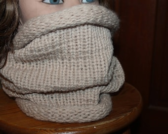 Customize Snood tube has beige wool