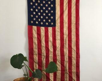 large mid century american flag