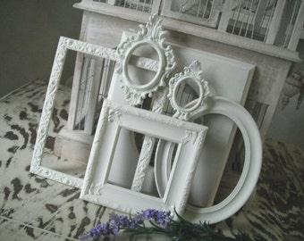 Shabby chic, Picture frames, French country photo frames, cottage frame set, picture frames