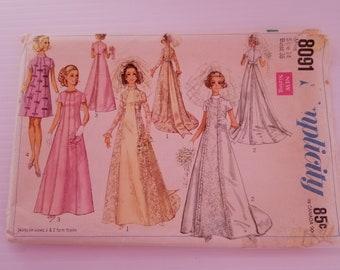 SIMPLICITY 8091 - SIZE 14 - Empire Look Wedding Dress Pattern