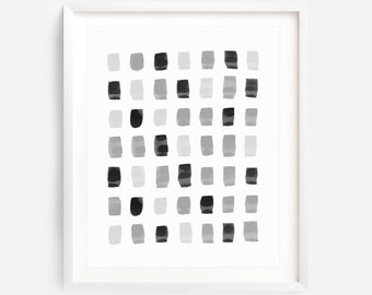 Grey Print, Black And Grey Art, Black And White Abstract Art, Monochrome Art, Watercolor Print, Grey Abstract Art, Black And White Prints
