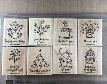 "Stampin Up ""Greetings Galore"" Stamp Set"