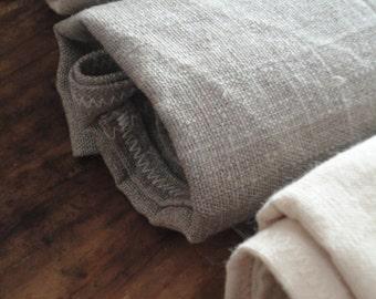 rough BATH towel, handmade from natural ramie, linen or wild / raw silk