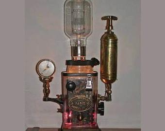 Steampunk Fantasy light (steampunk lamp)