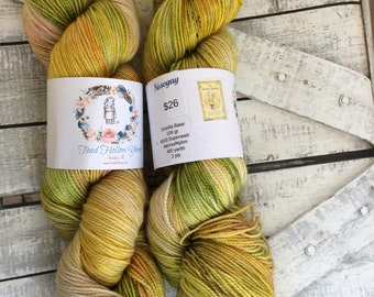 Variegated Hand Dyed Yarn -Nosegay from our Secret Garden Collection, Fingering Weight,80/20 Superwash Merino-Nylon blend,Toad Hollow yarns