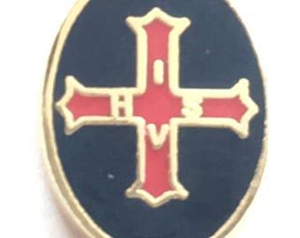 Masonic Conclave Order Crested Enamel Lapel Pin Badge (K056)