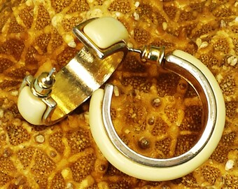 Vintage Yellow Enamel Stud Post Earrings