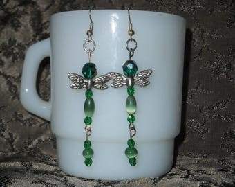Green DragonFly Dangles