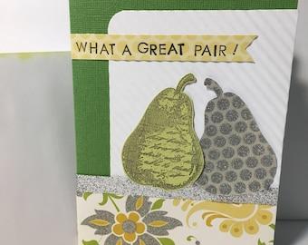 What a Great Pair handmade Anniversary card