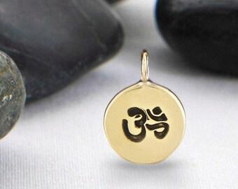 Yoga Charms, Om Charms, OM, Charms, Yoga Charm, Aum Charms, Ohm Charms, Yoga Jewelry, Charm, Ohm Charm, Meditation Charm, IP246BR