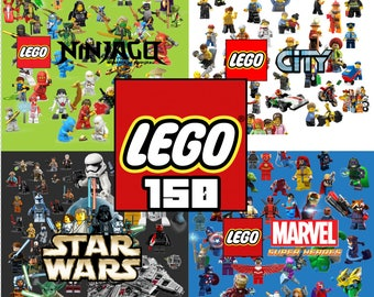 150 Lego ClipArt - Digital , PNG, image, picture,  oil painting, drawing,llustration, art , birthday,handicraft