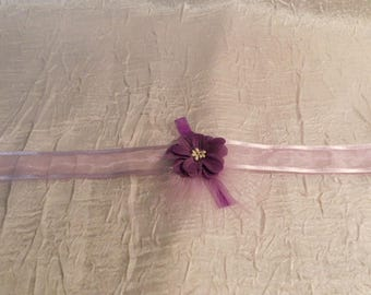 "Collar Ribbon ""wedding procession"" purple flower child"