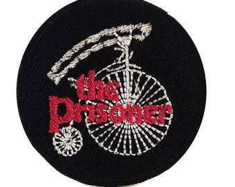 Custom embroidered Prisoner Penny Farthing patch