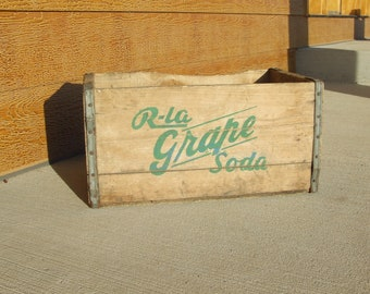 Vintage Grape Soda crate