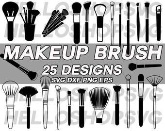 makeup brush svg, makeup svg, make up brush svg, fashion svg, monogram, cut file, silhouette, stencil, vinyl cut file, iron on, eps, png dxf